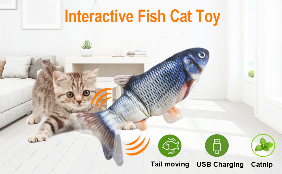 Malier Best Cat Kicker Fish Toy