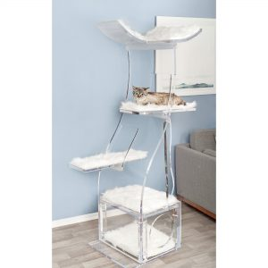 Crystal Clear Lotus Cat Tower By The Refined Feline