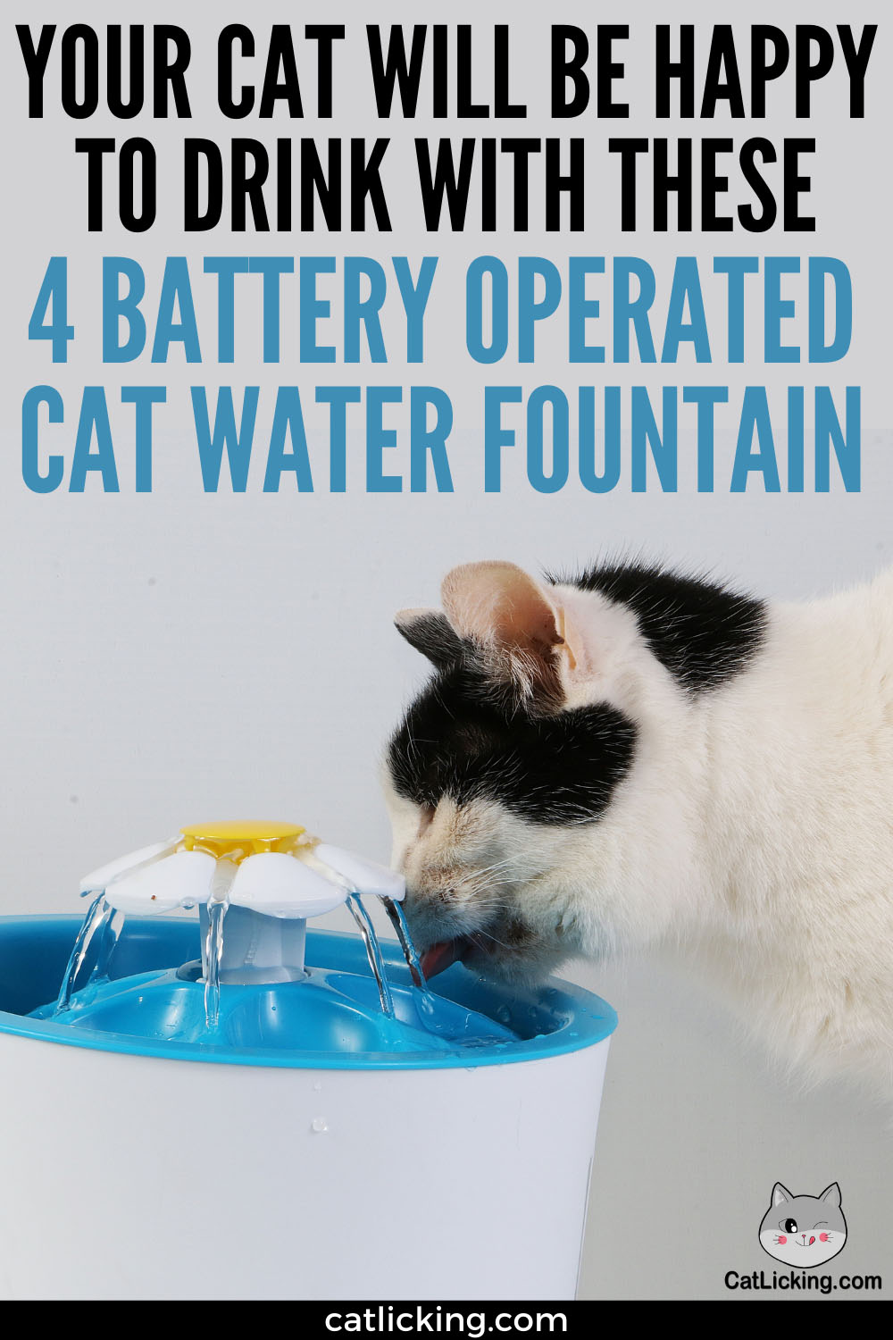 Battery Operated Cat Water Fountains