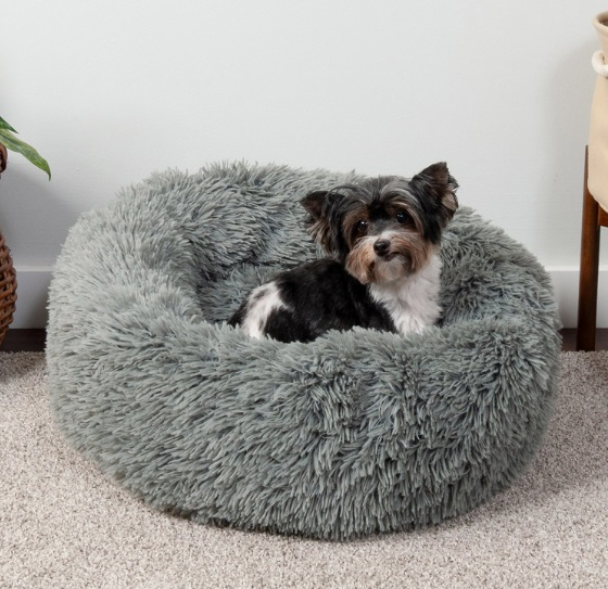 FurHaven Calming Donut Bolster Cat Bed