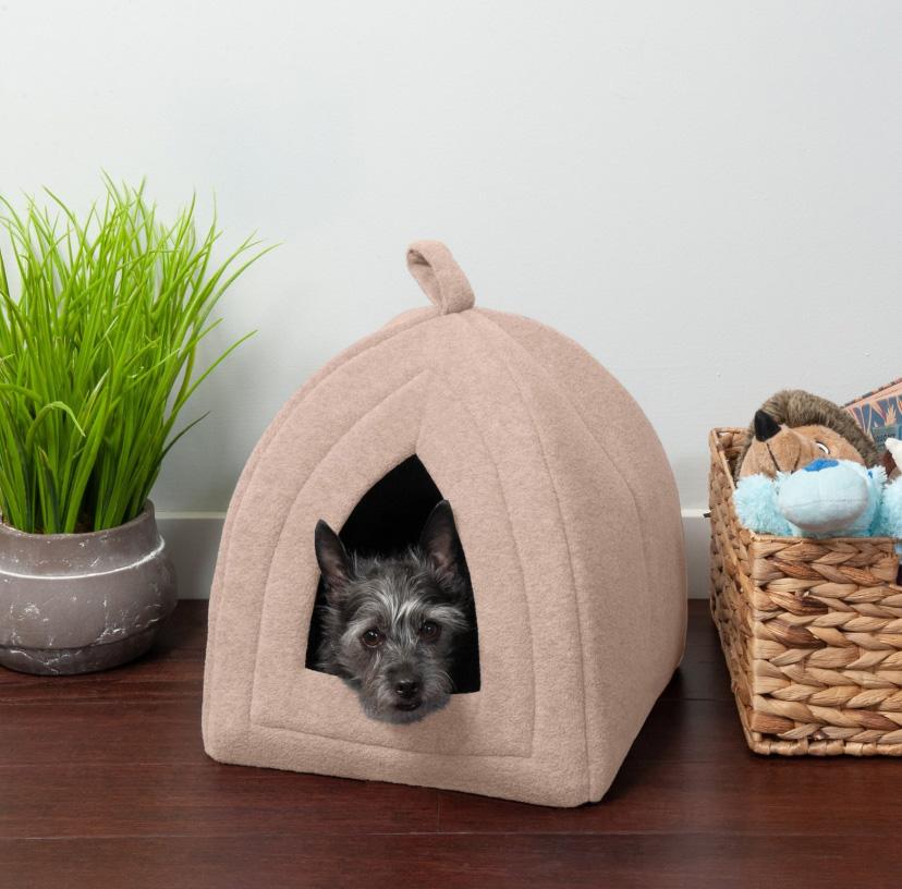FurHaven Calming Fleece Covered Cat Bed