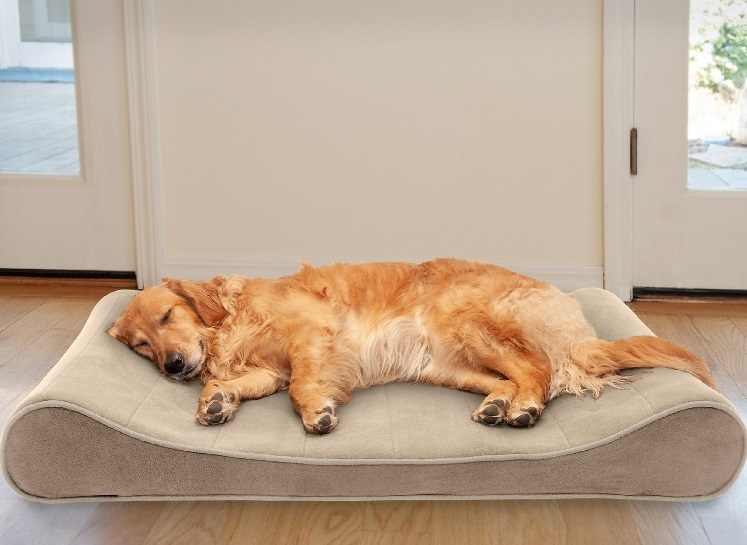 FurHaven Microvelvet Luxe Longer Cat Bed