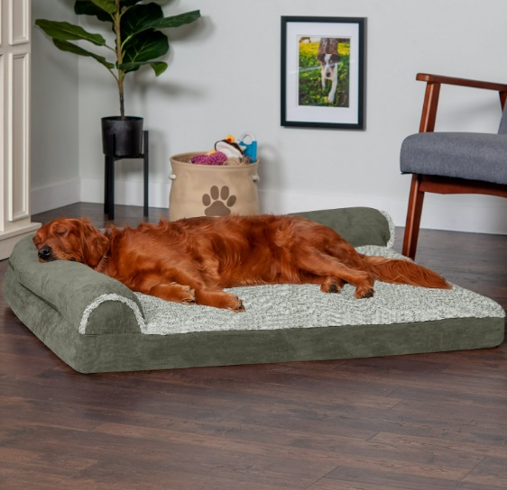 FurHaven Two-Tone Deluxe Cat Bed