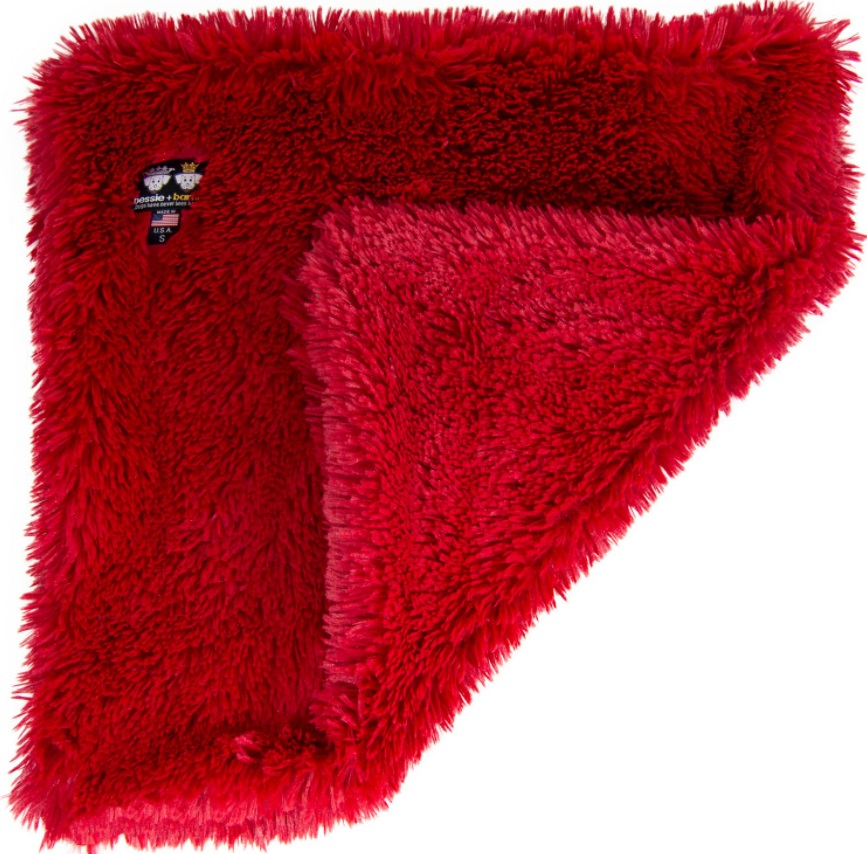 Bessie + Barnie Faux Fur Reversible Cat Blanket